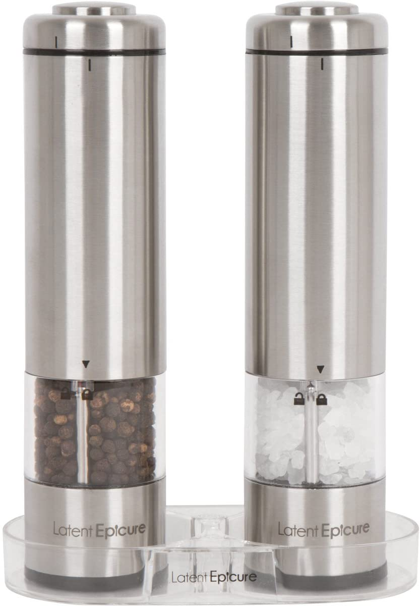 Latent Epicure Battery Operated Salt and Pepper Grinder Se