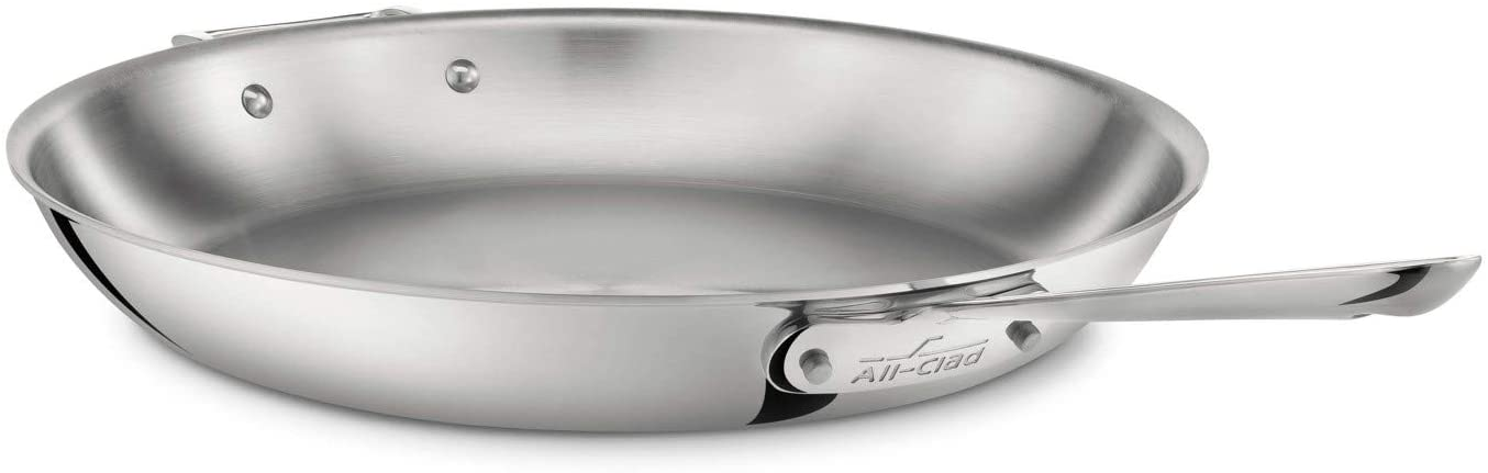 All-Clad 4114 Stainless Steel Tri-Ply Bonded Fry Pan