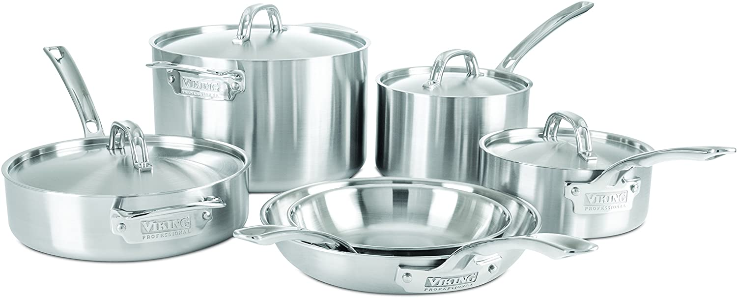 Viking Professional 5-Ply Stainless Steel Cookware Set